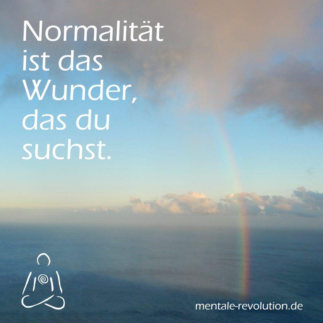 Normalität ist das Wunder